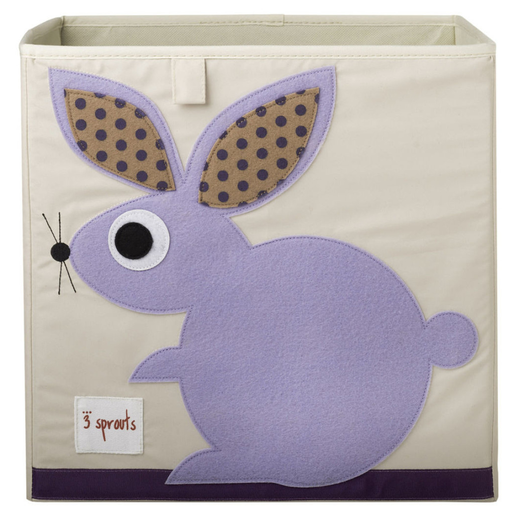 Коробка для хранения 3 Sprouts «Purple Rabbit» 150 cm rabbit plush toy pink or purple floral cloth love rabbit doll throw pillow gift w4993
