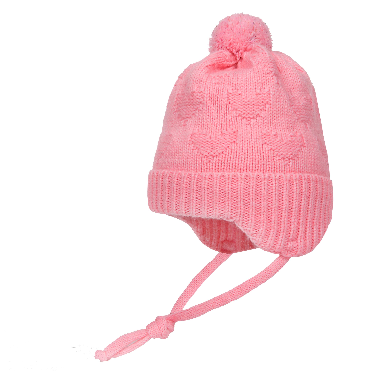 Купить Шапка-ушанка для девочки, model, 1шт., Barkito W17B1002A(2), Россия, светло-розовый, Женский