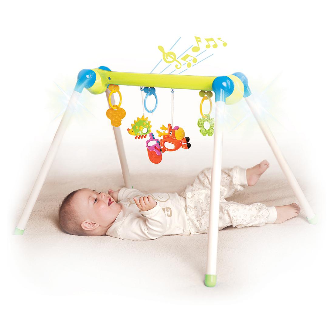 Купить Развивающие игрушки для малышей, Первые занятия гимнастикой, 1шт., Жирафики 632736, Китай, белый, зеленый