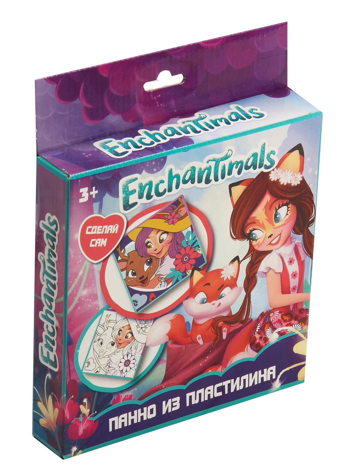 Пластилин Centrum Панно из пластилина Enchantimals «Сделай сам» 10 цв. панно из пластилина enchantimals сделай сам 10 цв