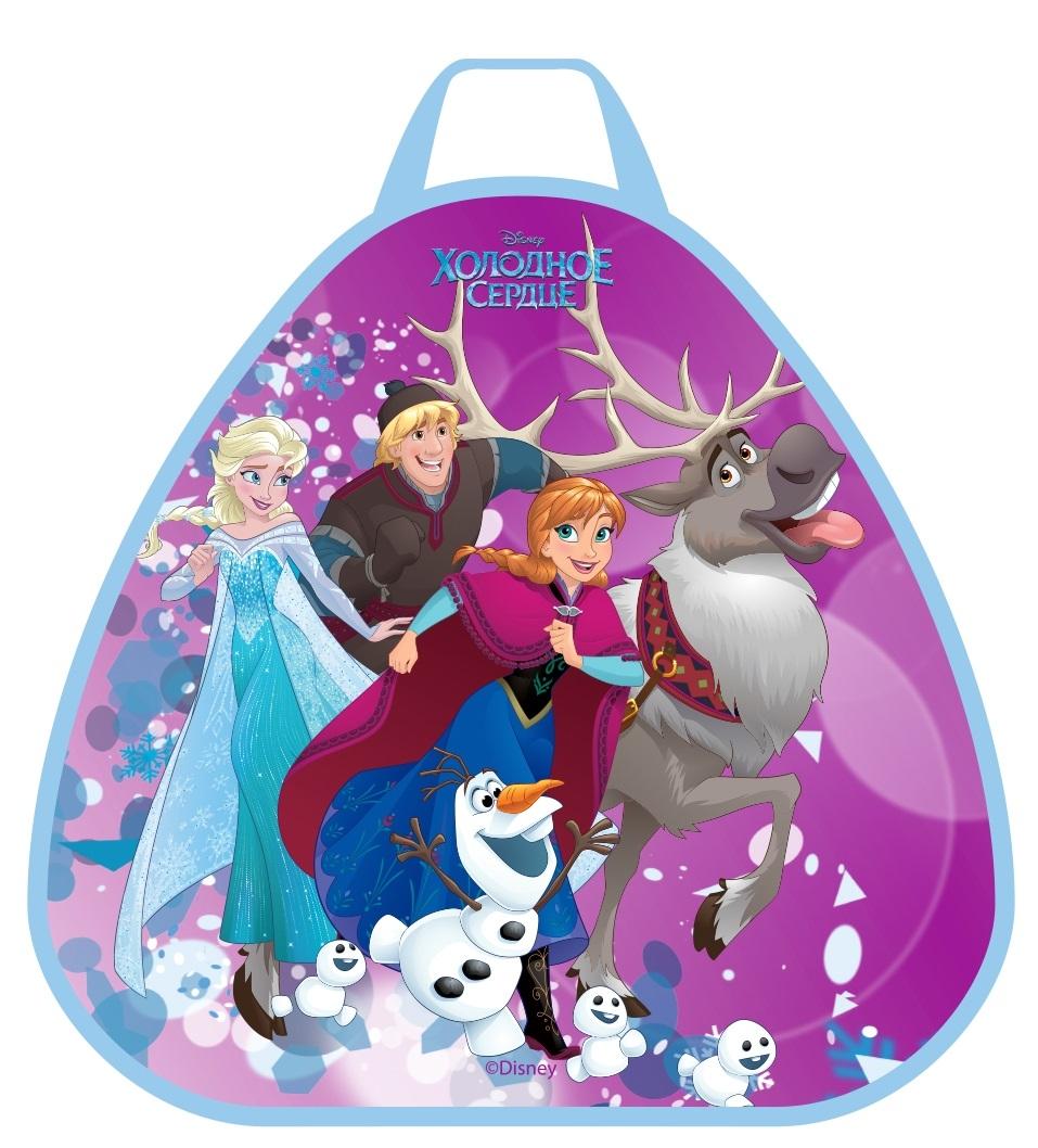 Ледянки Disney Ледянка Disney «Холодное сердце» треугольная 52х50 см 1toy ледянка холодное сердце 92 см