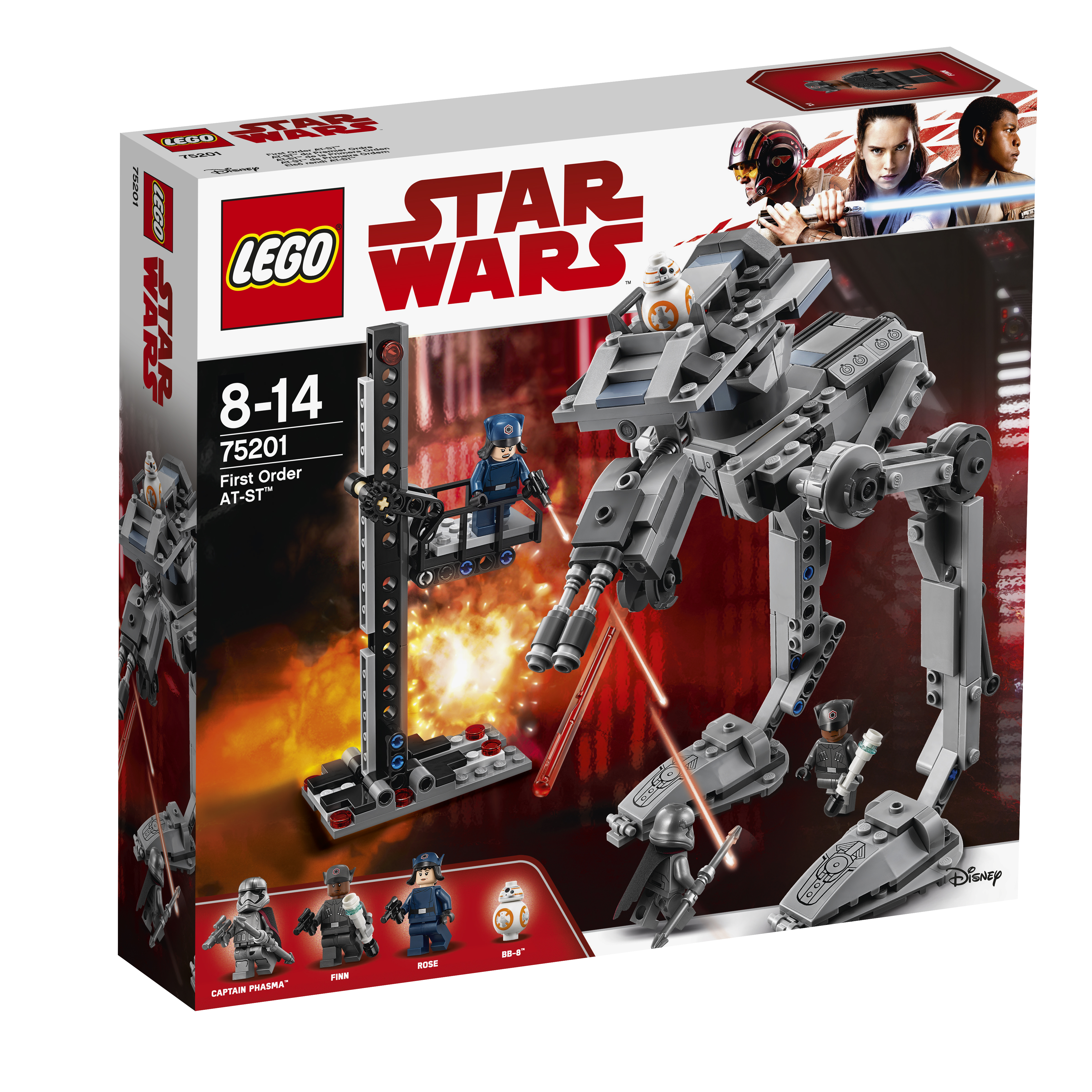 Star Wars LEGO 75201 Вездеход AT-ST Первого Ордена конструктор lego star wars шагающий штурмовой вездеход at te капитана рекса 75157