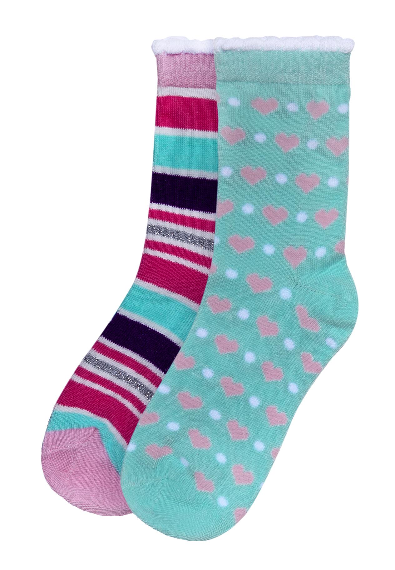 Носки Barkito Носки для девочки, комплект 2 пары, Barkito, розовые/бирюзовые комплект маек цветы для девочки barkito