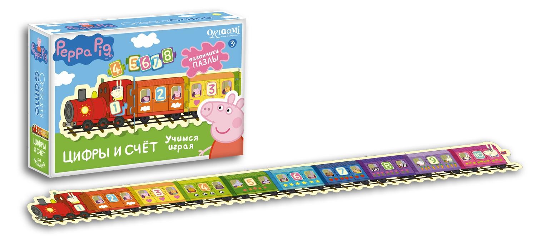 Peppa Pig Peppa Pig Паровозик Цифры и Счет настольная игра origami peppa pig считалочка в чемоданчике