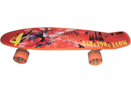 Скейтборд ASE-SPORT ASE-Tiny-print-2 скейтборд pwsport classic цвет розовый зеленый дека 22