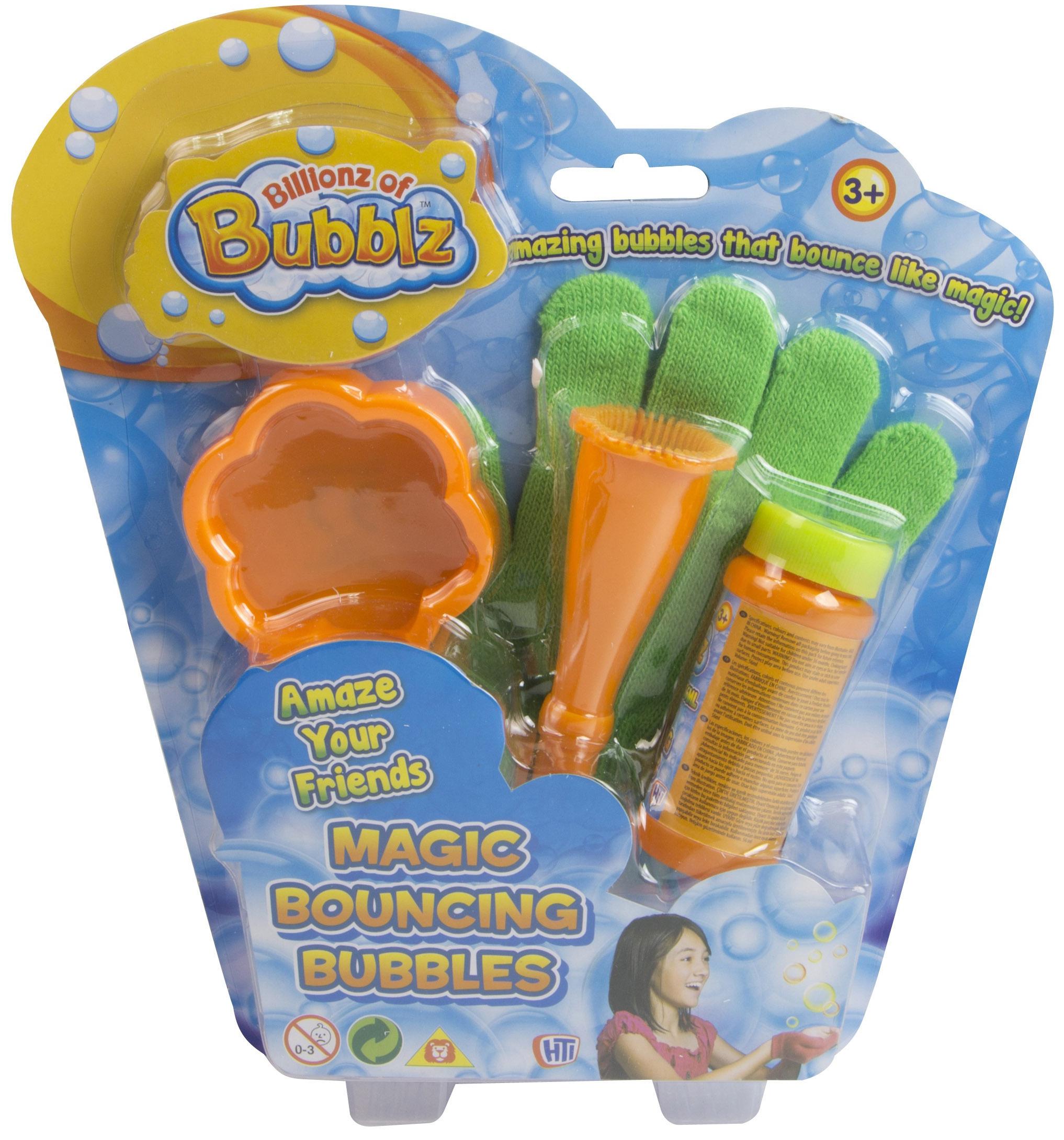 Набор для пускания мыльных пузырей HTI Волшебные прыгающие пузыри с перчаткой hti набор для пускания мыльных пузырей с бутылочкой hti