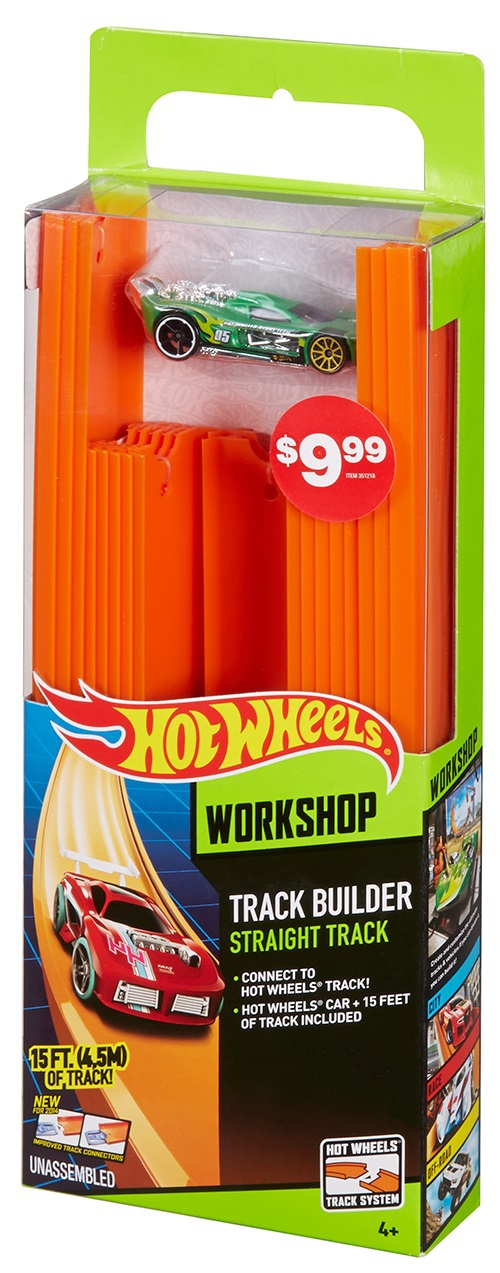 Hot Wheels Hot Wheels Игровой набор Hot Wheels «Track Builder» 4.5 метра с 1 базовой машинкой в наборе hot wheels track builder игрушечный трек стартовый набор для трюков