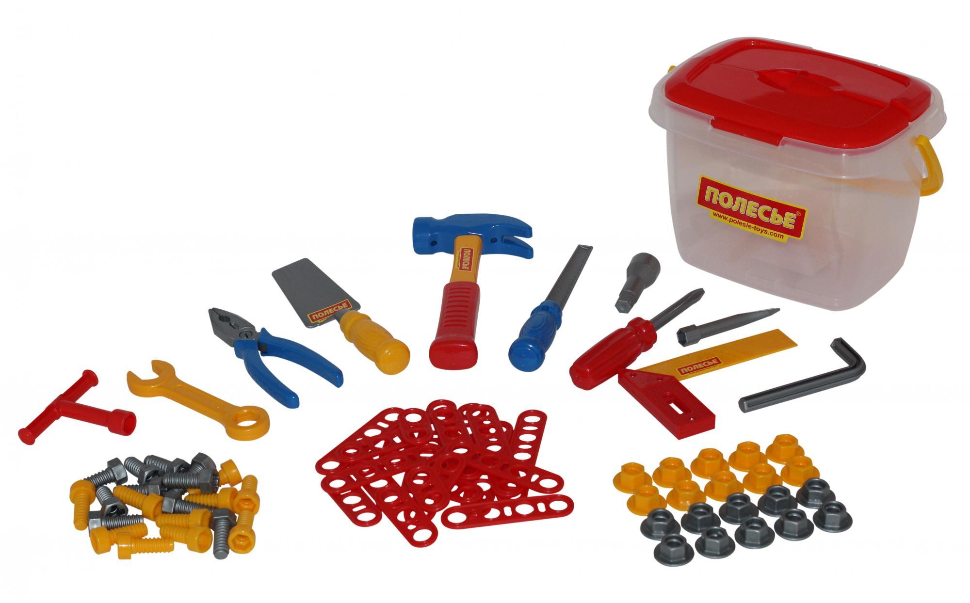 Наборы игрушечных инструментов Полесье Игровой набор Полесье «Инструменты» игра полесьесервировочный столик 4960