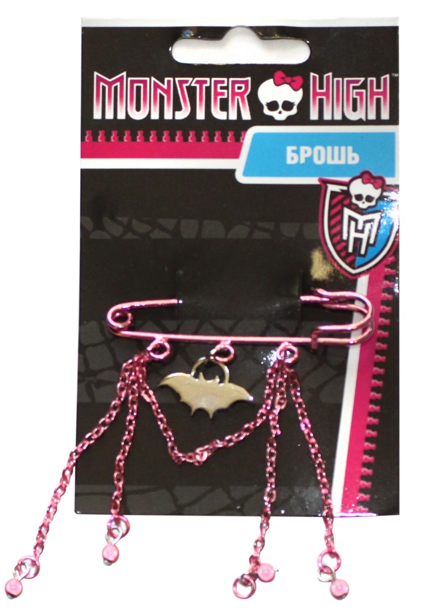 Украшения Monster High Брошь Monster High «Draculaura» с цепочками 1toy monster high