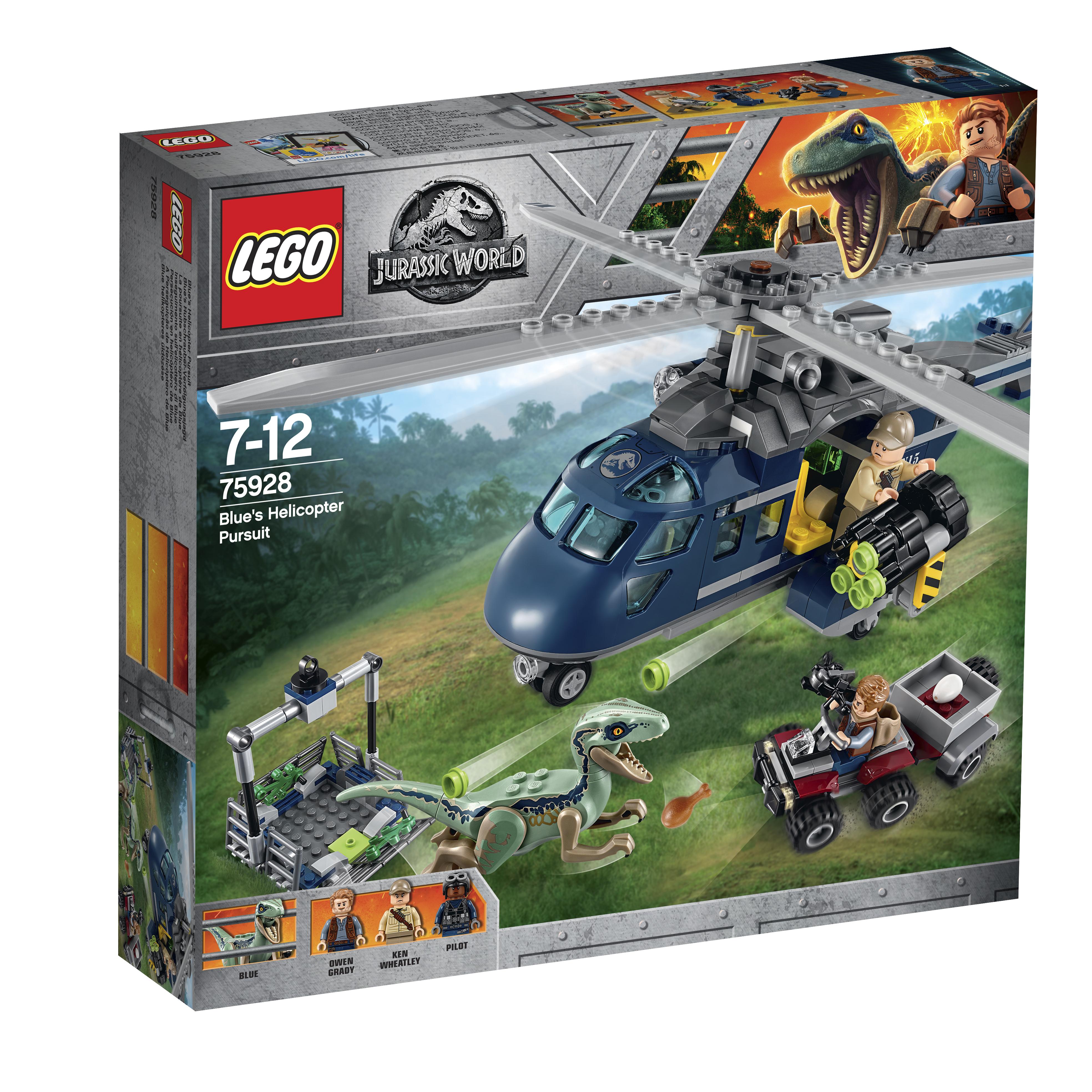 Конструктор LEGO Jurassic World 75928 Погоня за Блю на вертолёте цена 2017