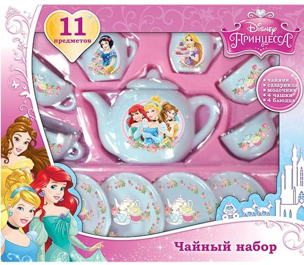 Игровой набор Играем вместе Игровой набор посуды Принцессы играем вместе тесто для лепки принцессы дисней неоновое 4 цвета
