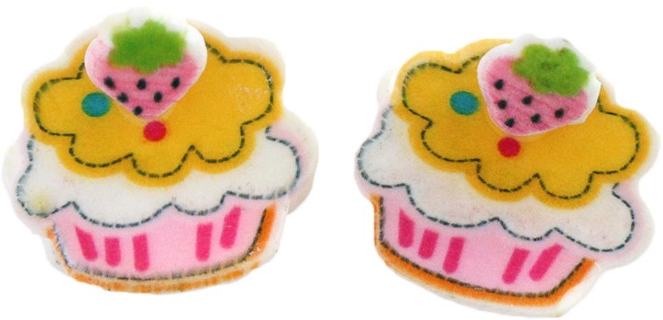 Украшения Принчипесса Краб для волос Принчипесса «Пирожное» розовый 2 шт. невидимка для волос funny bunny розовые цветы 2 шт