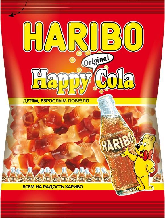 Десерты HARIBO Haribo «Хеппи Кола» жевательный 70 г жевательные конфеты haribo коло радо мини c лакрицей и какао 175г