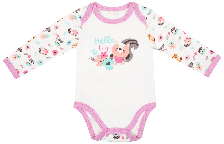 Первые вещи новорожденного Barkito Боди с длинным рукавом для девочки, 2шт, Barkito Зверюшки, белое/мятное боди и песочники spasilk боди короткий рукав ons3p02 ons3p03 3 шт