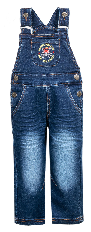 Полукомбинезон джинсовый Barkito Монстр-машина полукомбинезон barkito для мальчика синий