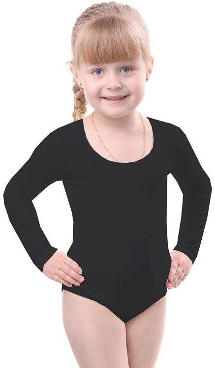 Купальники и плавки Свiтанак Комбидрес (гимнастический купальник) для девочки Свiтанак, черный футболки и топы свiтанак футболка для мальчика р108702