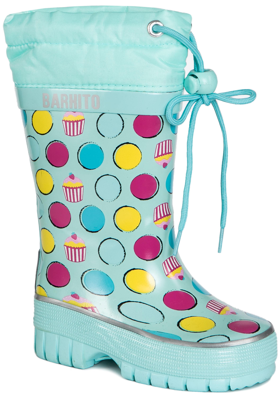 Резиновые сапоги Barkito Сапоги для девочки Barkito, светло-голубые сапоги quelle der spur 1013540