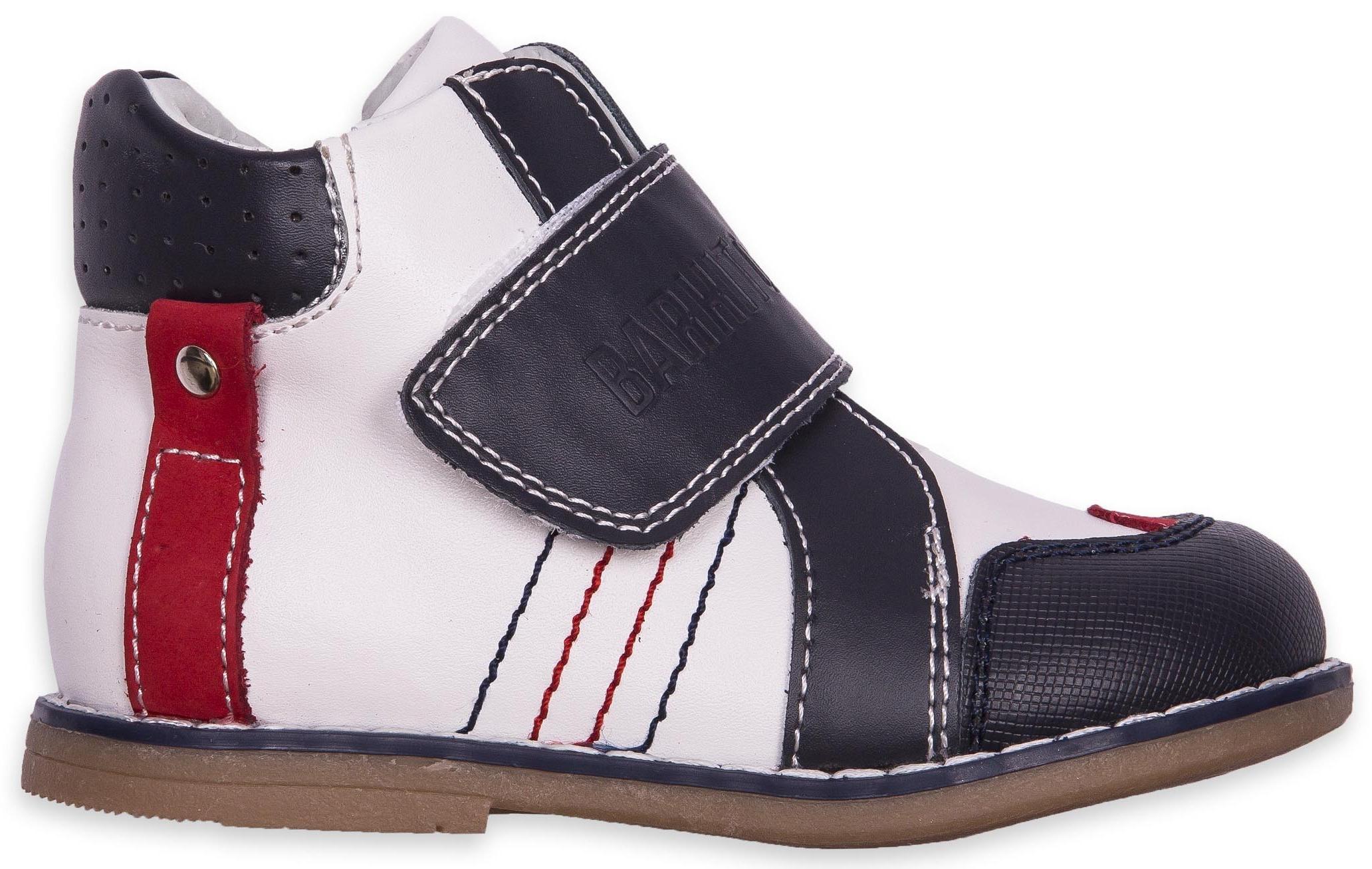 Купить Ботинки и полуботинки, Ботинки для мальчика Barkito, бело-синие, Китай, Бело-синие, Мужской