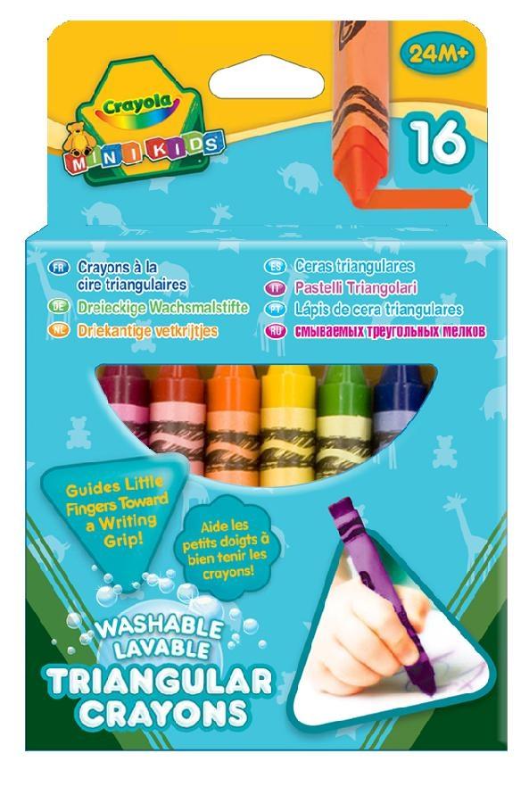 Мелки восковые Crayola Смываемые треугольные восковые мелки 16 шт, 1шт.