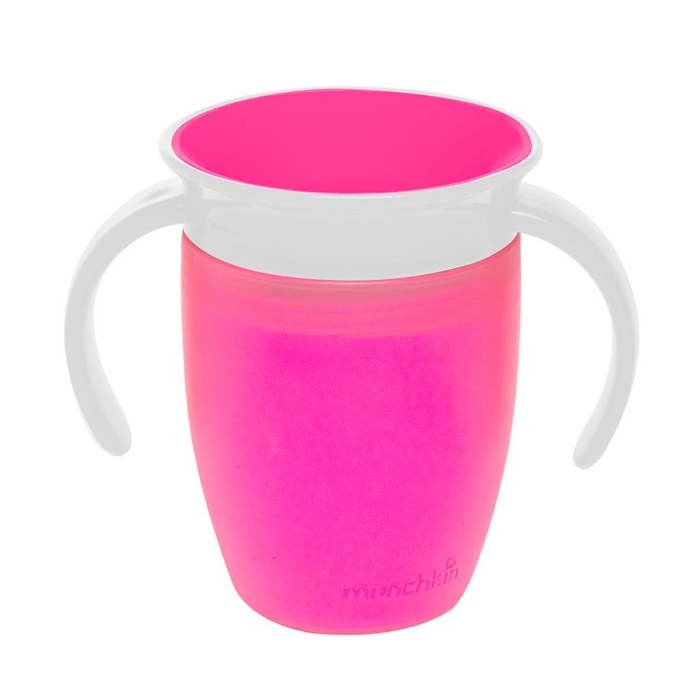 Чашки и поильники Munchkin «360» с ручками с 6 мес. 207 мл розовый munchkin поильник чашка с носиком с 6 мес 266 мл