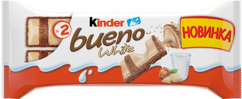 Вафли Kinder «Bueno» в белом шоколаде 39 г