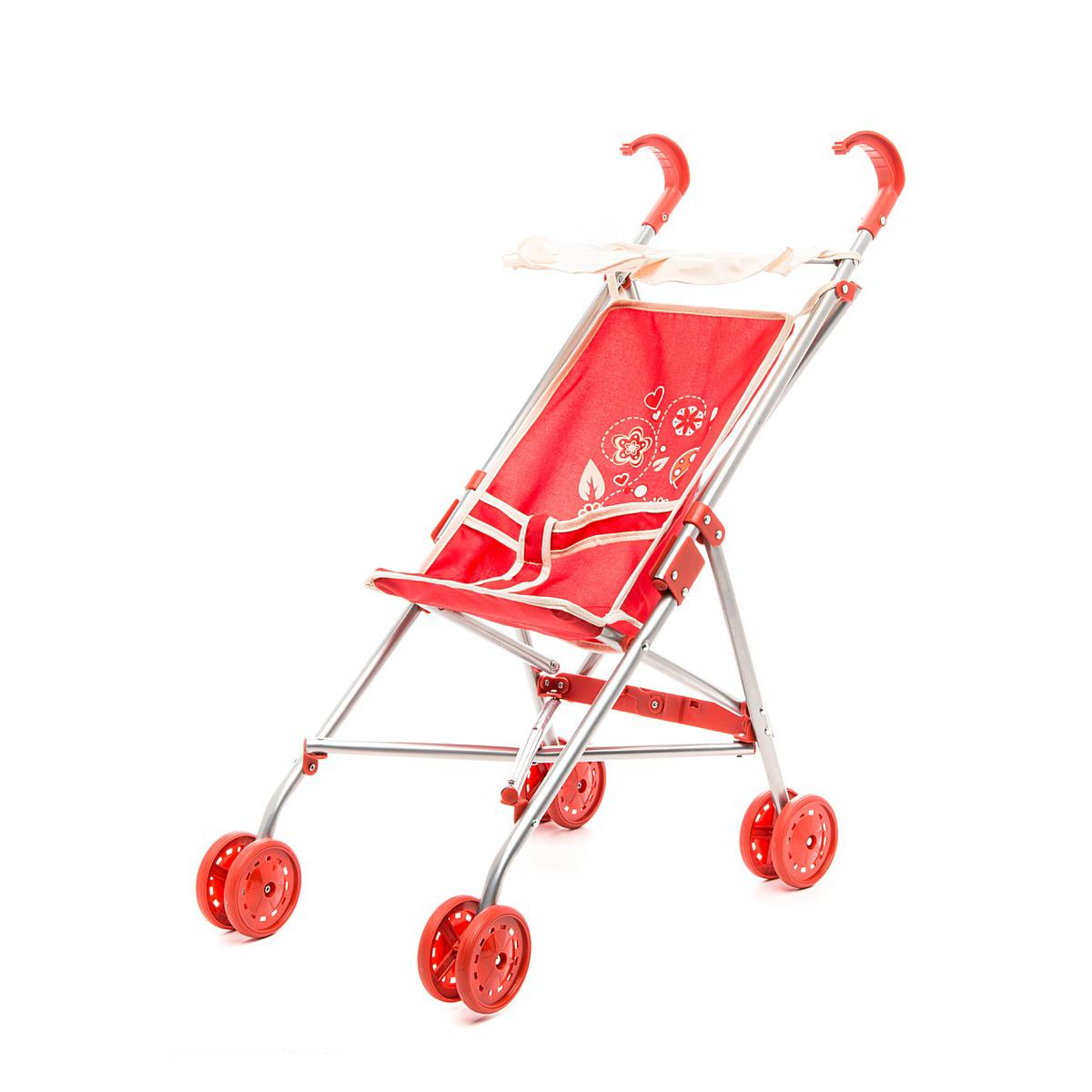 прогулочная коляска-трость для куклы Наша игрушка Божья коровка цена 2017