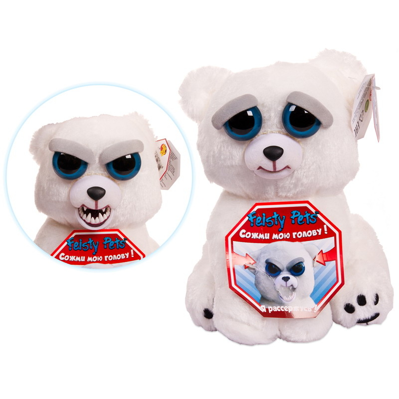 Мягкие игрушки Feisty Pets Мягкая игрушка Feisty Pets «Медведь белый» top pets store 315202