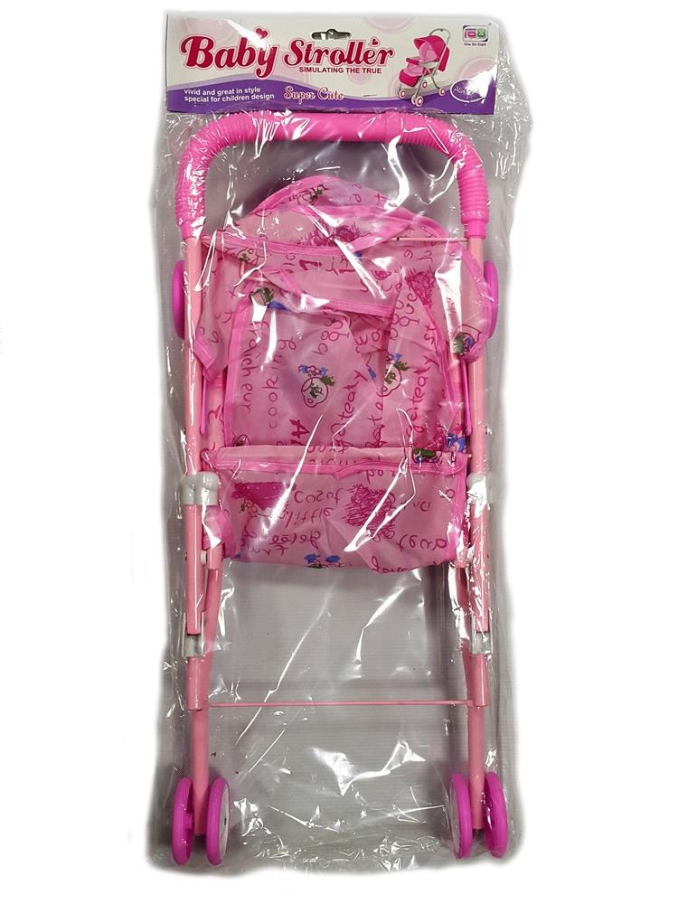 Купить Коляска для куклы, Прогулочная, 1шт., UF SPL130974, Китай, pink, Женский