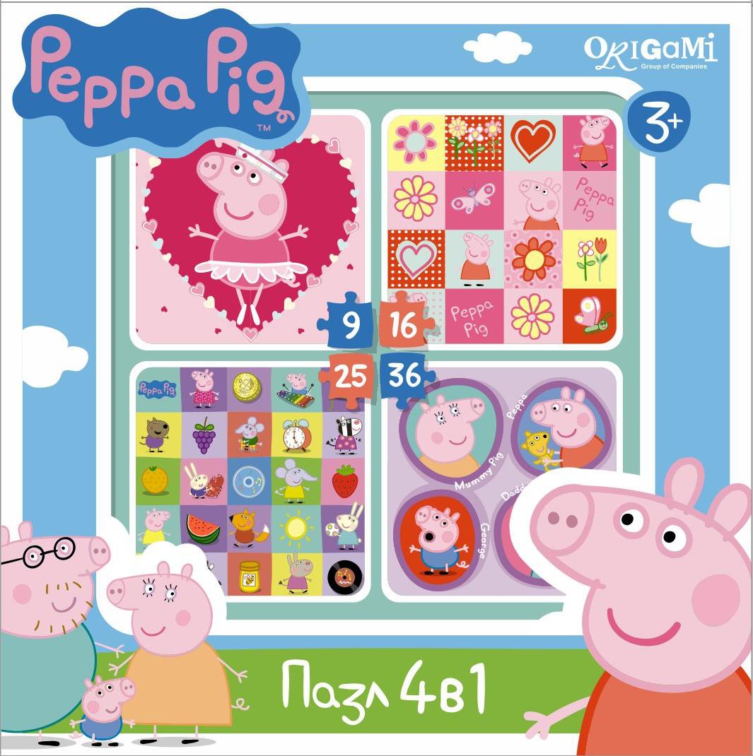Пазлы Peppa Pig Герои и предметы, 1шт.