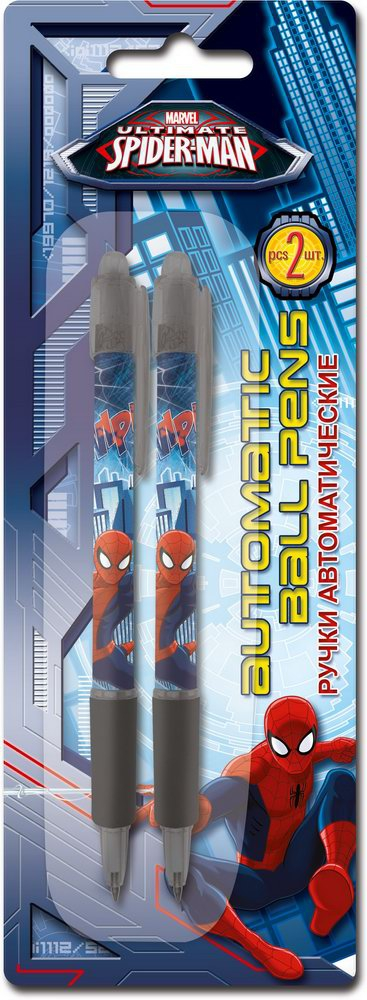 Канцелярия Spider-man Ручка шариковая Spider-Man ручки и карандаши spider man набор цветных карандашей spider man 12 шт