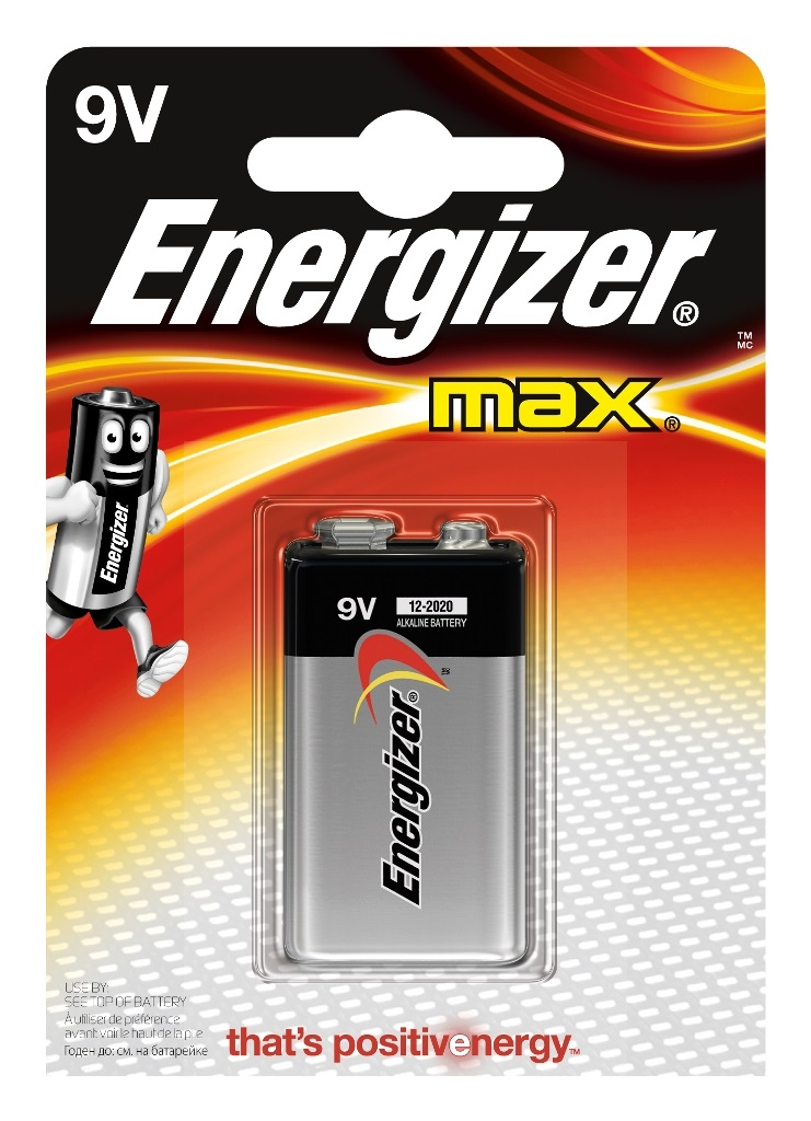 Элементы питания Energizer Max 522 9V 1 шт. uni t ut202a 1 4 lcd digital clamp multimeter red grey 1 x 9v 6f22