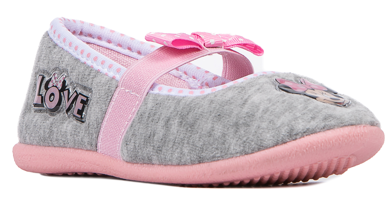 Купить Туфли комнатные для девочки, MINNIE MOUSE светло-серые, 1шт., Barkito DM004079, Китай, светло-серый, Женский