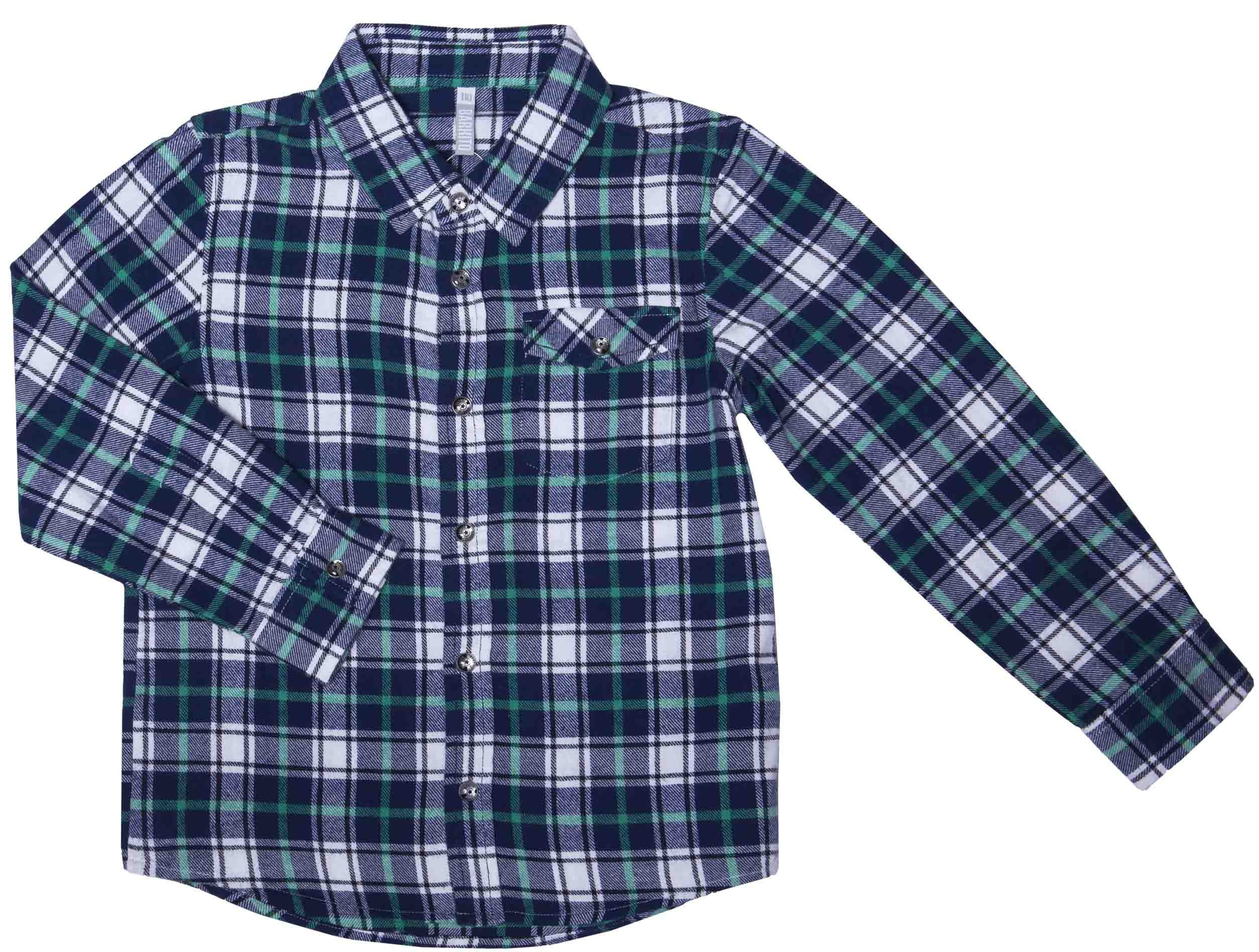 Купить Сорочка для мальчика, Сити, 1шт., Barkito W16B4004S(1), Китай, синий с рисунком клетка , Мужской