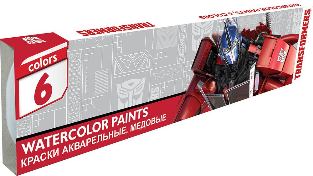 Краски Transformers Медовые 6 цветов краски transformers акварельные медовые 12 цветов
