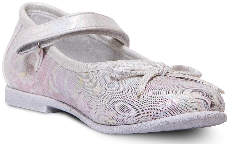 Купить Туфли для девочки Barkito, серебрянные, Китай, серебро, верх: 100% искуственная кожа, подкладка: 100% натуральная кожа, стелька: 100% натуральная кожа, подошва: ТПР, Женский