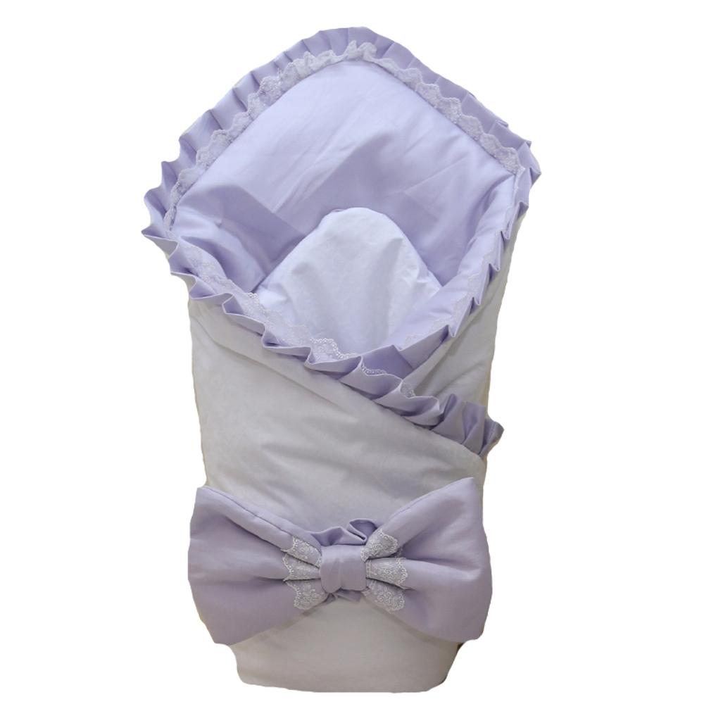 Комплекты на выписку Арго Конверт-одеяло на выписку для девочки Арго «Сирень», сиреневый конверты на выписку осьминожка конверт атласный нарядный ноктюрн