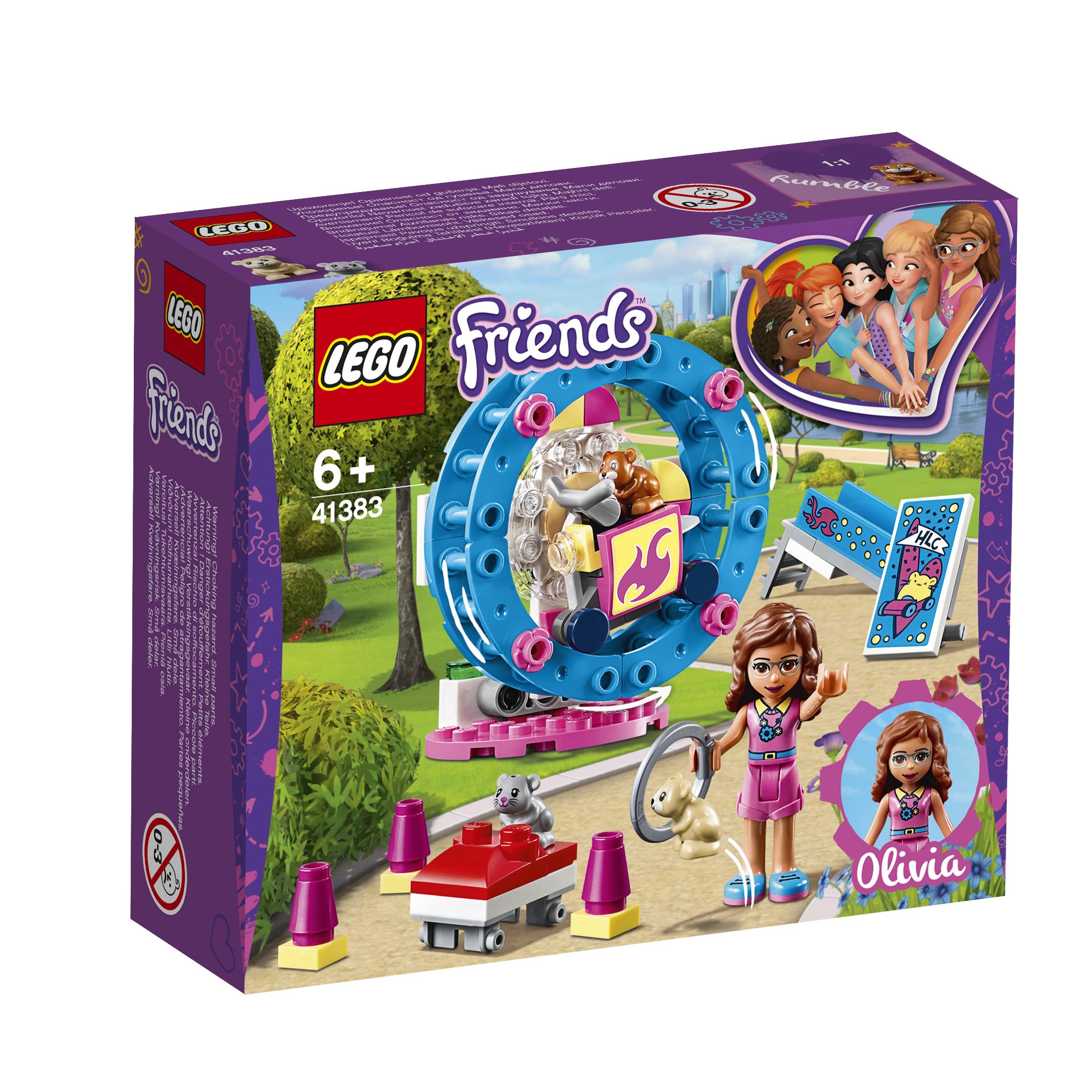 Конструктор LEGO Friends 41383 Игровая площадка для хомячка Оливии lego friends выставка щенков игровая площадка