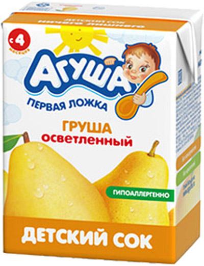 Напитки Агуша Сок Агуша Груша с 4 мес. 200 мл сок агуша груша с 4 мес 200 мл