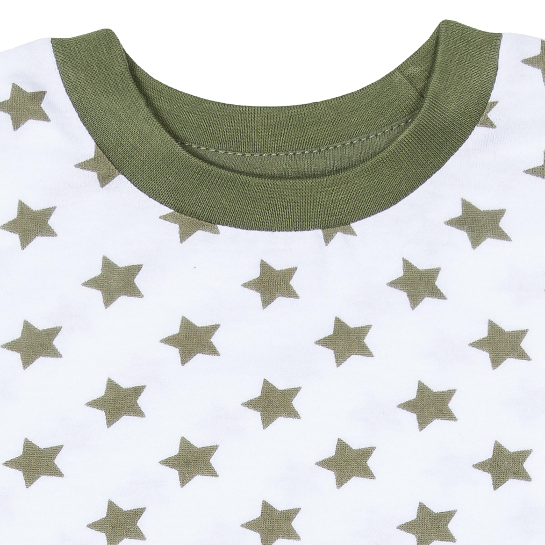 Купить Футболка с коротким рукавом для мальчика Barkito, База, цвет белый с рисунком звезды, Узбекистан, белый с рисунком «звезды», 100% хлопок, Мужской