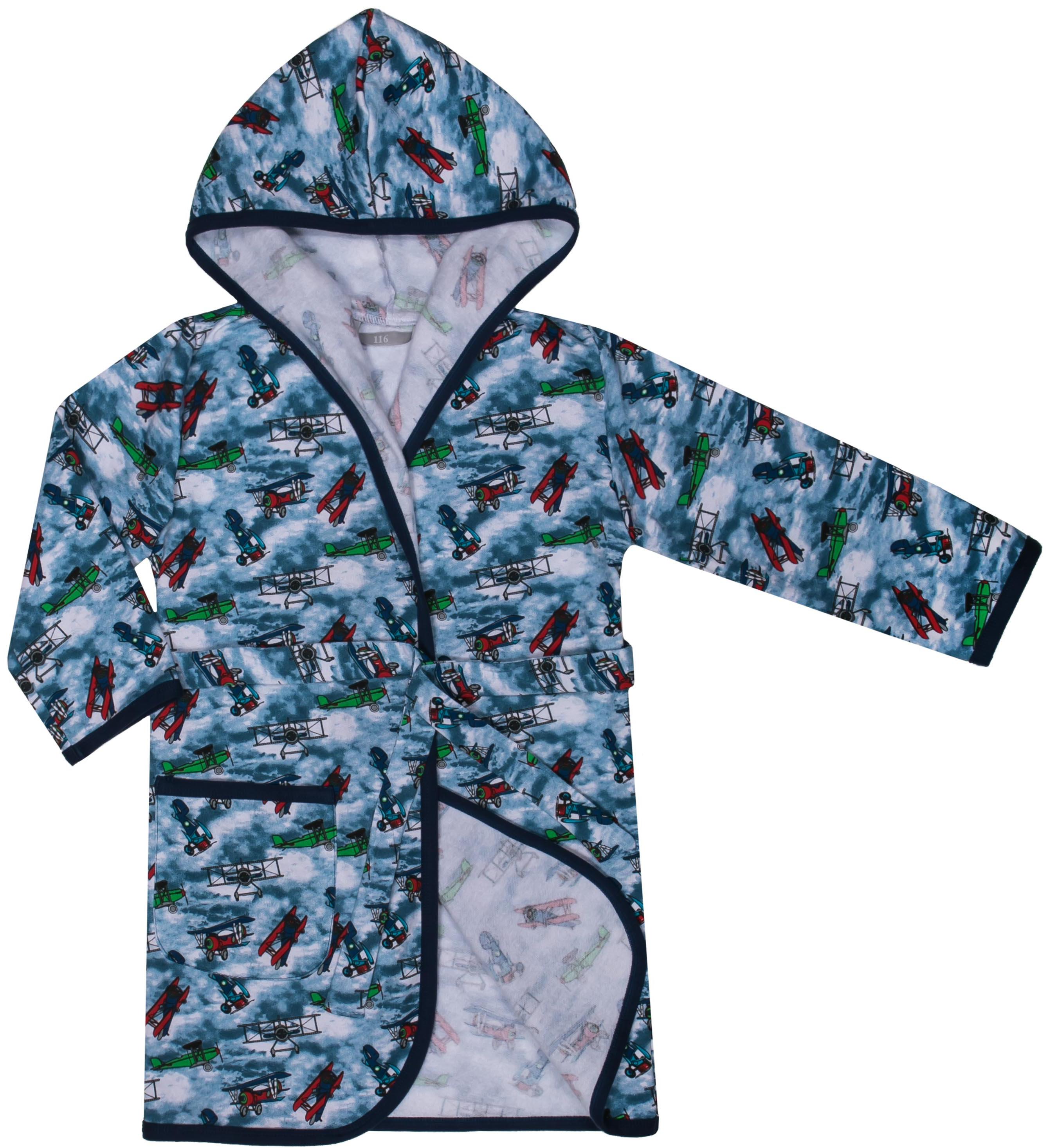 Халаты Barkito Халат детский Barkito, голубой с рисунком детские халаты five wien детский халат малыш цвет голубой 6 8 лет