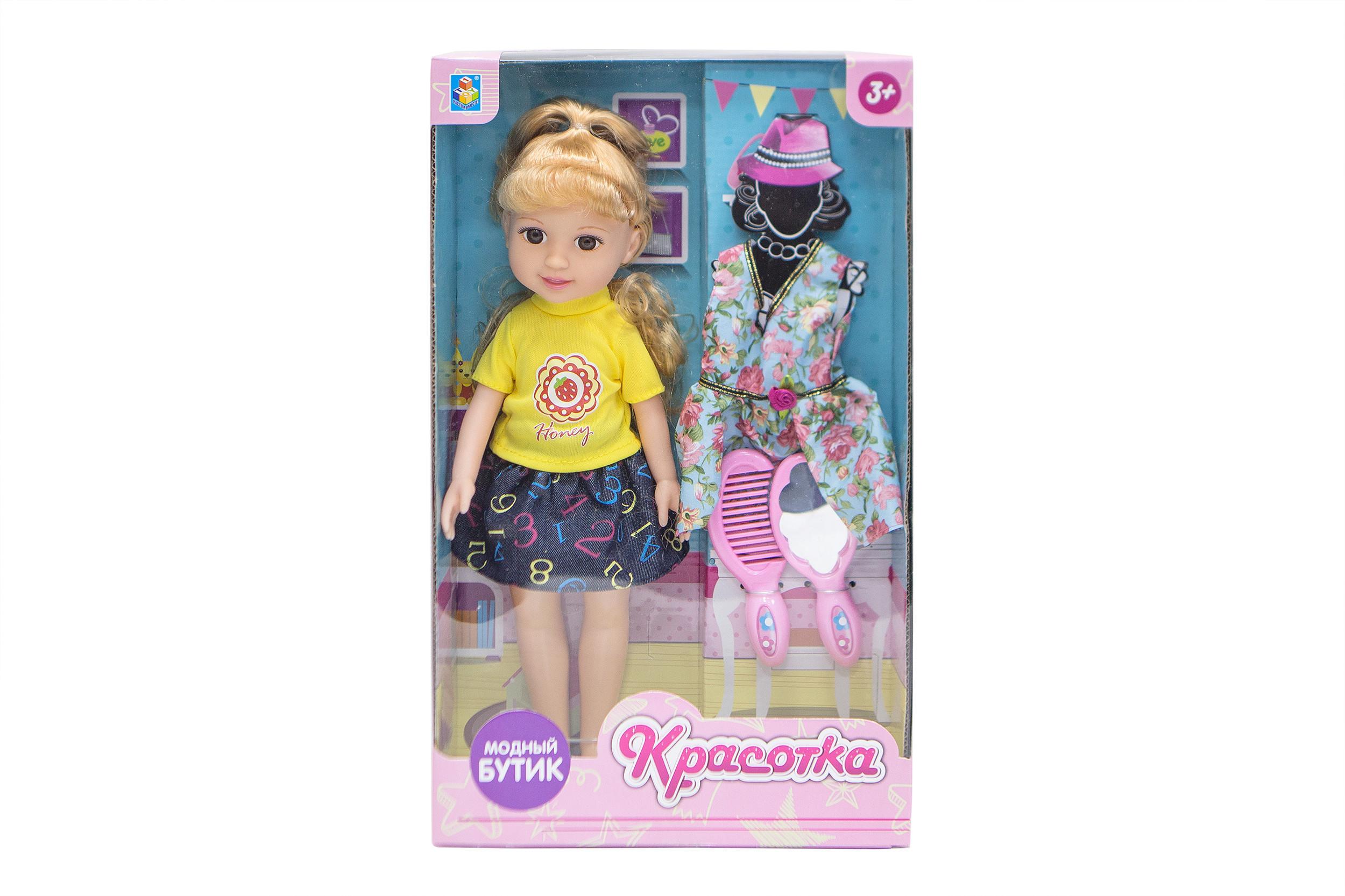 Классические куклы 1toy Кукла 1Toy «Красотка. Модный Бутик» блондинка с аксесс. 1toy красотка белый