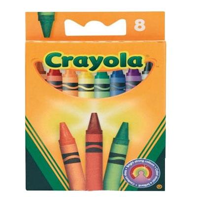 Ручки и карандаши Crayola Разноцветные восковые 8 шт crayola восковые мелки 8 шт crayola
