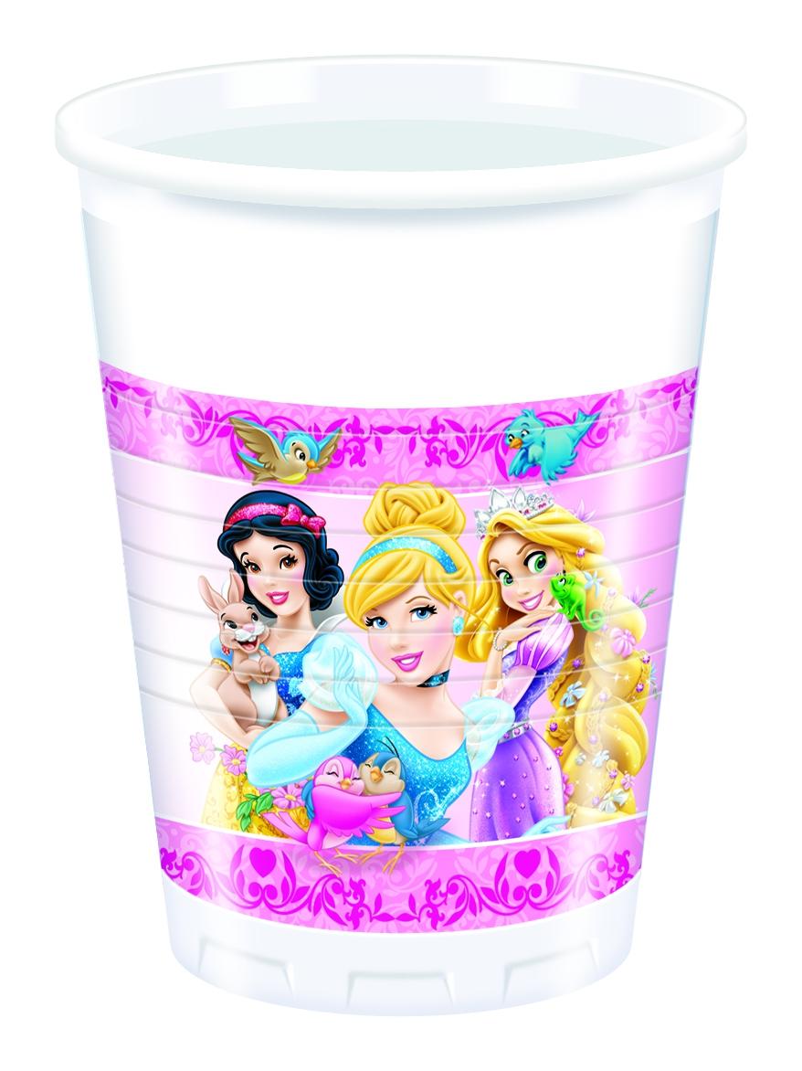 Стаканы пластиковые Procos Принцессы и животные посуда и скатерти procos принцессы и животные