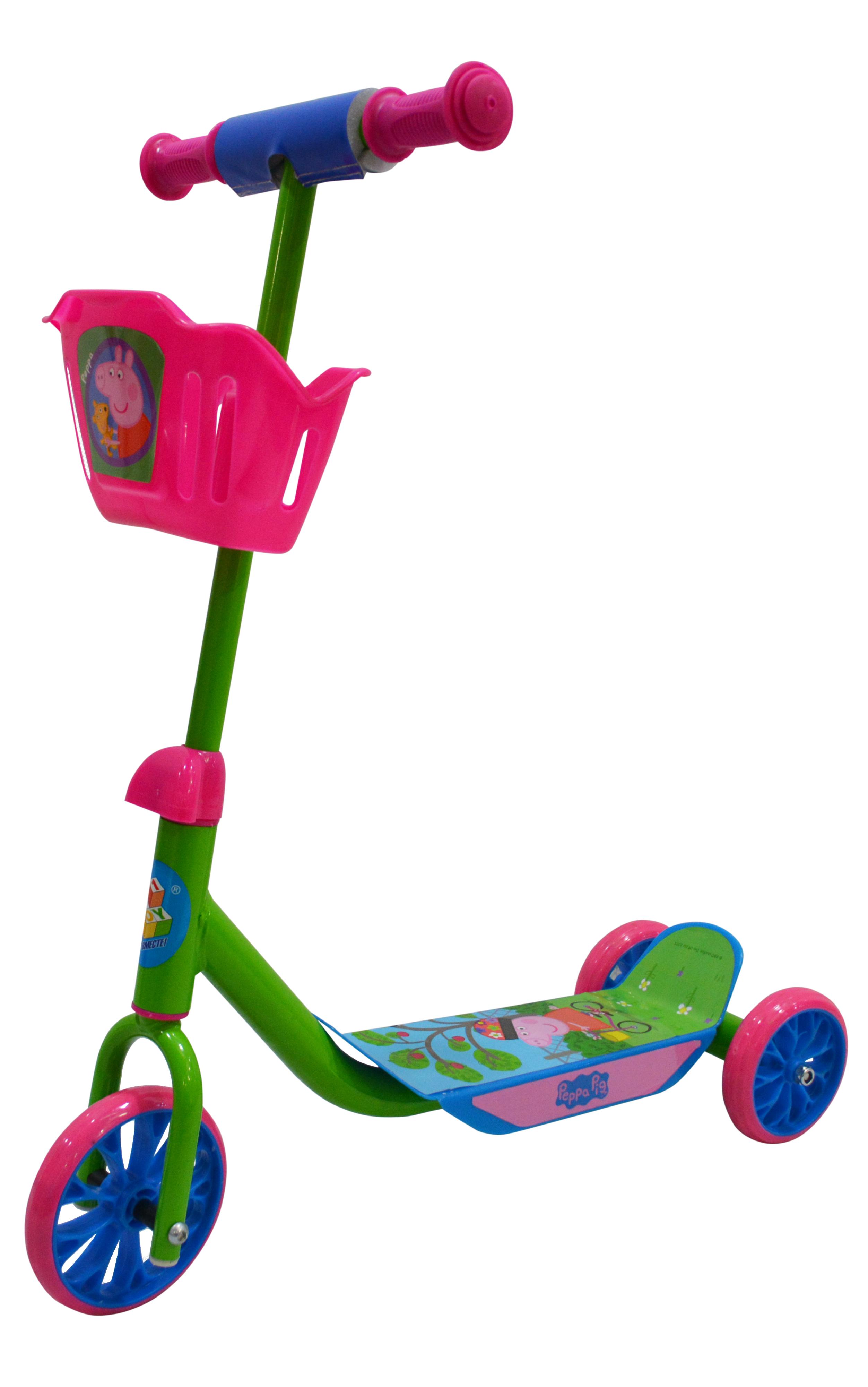 Самокаты 1toy Peppa самокат трехколесный 1 toy т57644 peppa