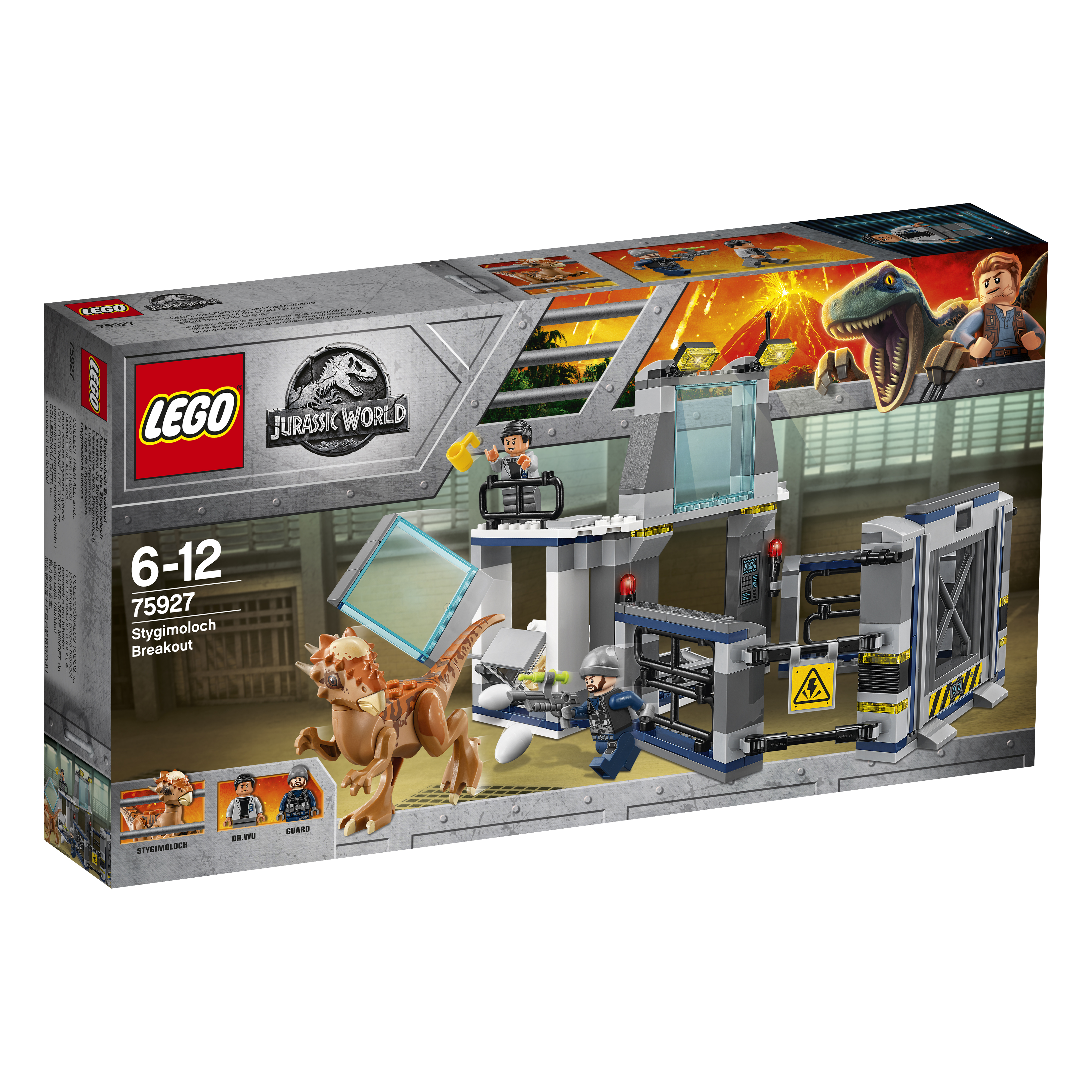 Конструктор LEGO Jurassic World 75927 Побег стигимолоха из лаборатории lego jurassic world team pack