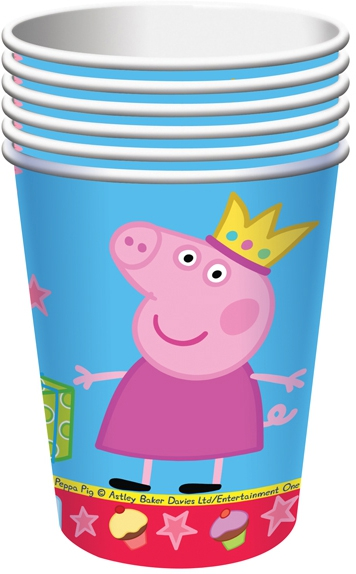 Стаканы Peppa Pig Одноразовые стаканы Пеппа Принцесса 6 шт. peppa pig пакет подарочный пеппа принцесса 6 шт