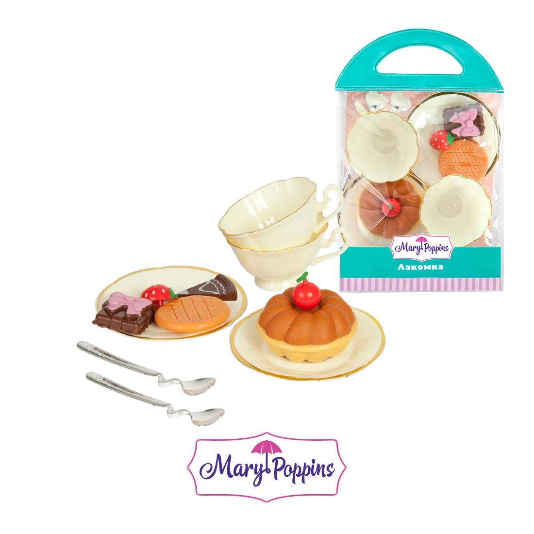 Посуда и наборы продуктов Mary Poppins Игровой набор Mary Poppins «Набор пирожных» с кружками набор пирожных mary poppins лакомка 453047
