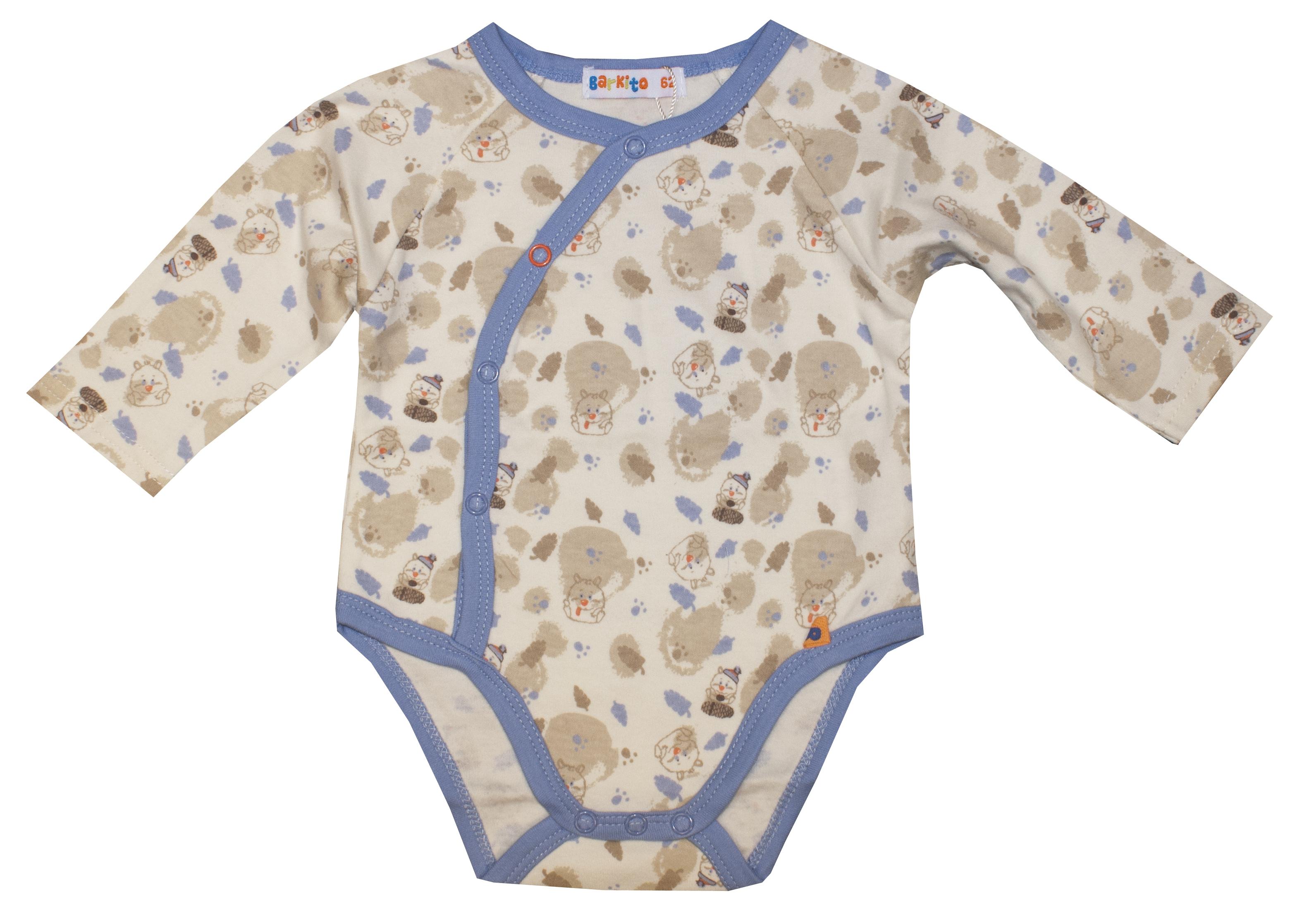 Купить Первые вещи новорожденного, Боди с длинным рукавом для мальчика Хомячок Barkito рисунок хомячок, Китай, бежевый, Новорожденный