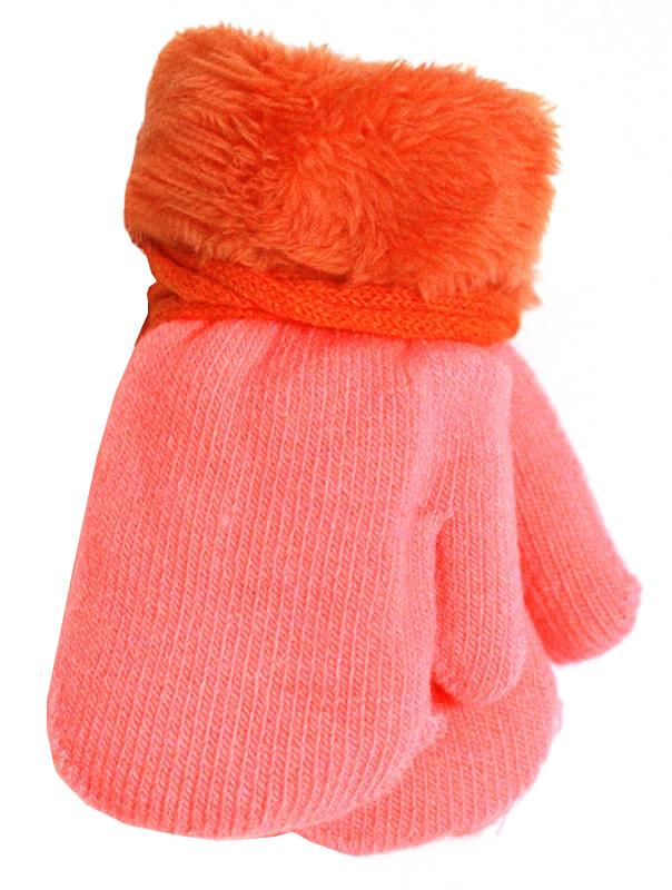 Варежки и перчатки Принчипесса Варежки для девочки Принчипесса, розово-оранжерые варежки перчатки и шарфы coccodrillo шарф для девочки love cats