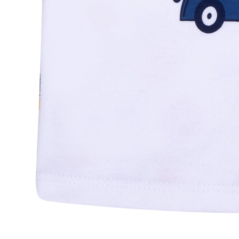 Купить Футболки, Футболка с длинным рукавом для мальчика Barkito «Зверята» 2 шт., белая/синяя, Россия, белый/синий